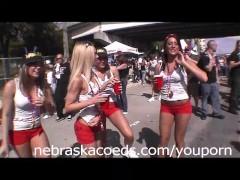 Gasparilla Pirate Flashing Girl Festival in Tampa