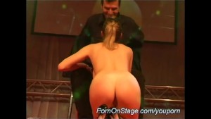 dildo show on public stage