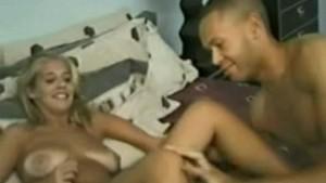 Round-butt'd blondie goes interracial