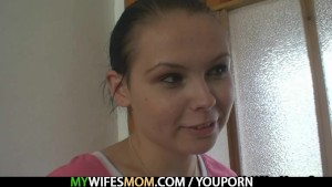 Her daughter away and she fucks him