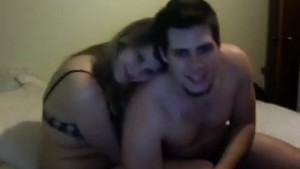 Sexy couple making love on porn vid