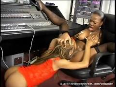 Ebony Lesbian Loves Licking Feet