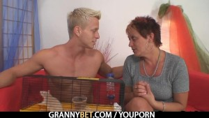 Granny allows him to seduce her