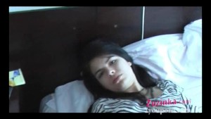 Amateur Czech student gets horny - zebra dress