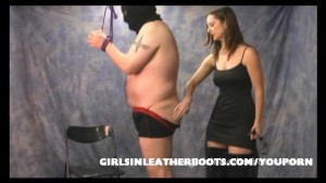 Slave bondage and worship of femdoms sexy leather boots
