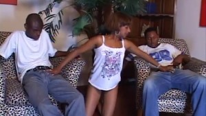Black Bisexual Threesome Gets Hot and Heavy