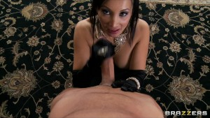 Big-tit Asian brunette Pornstar Katsuni fucks hard-dick to orgasm