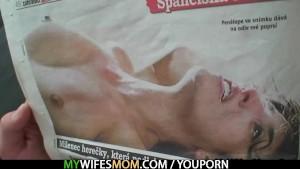 Horny guy bangs his GF's mom