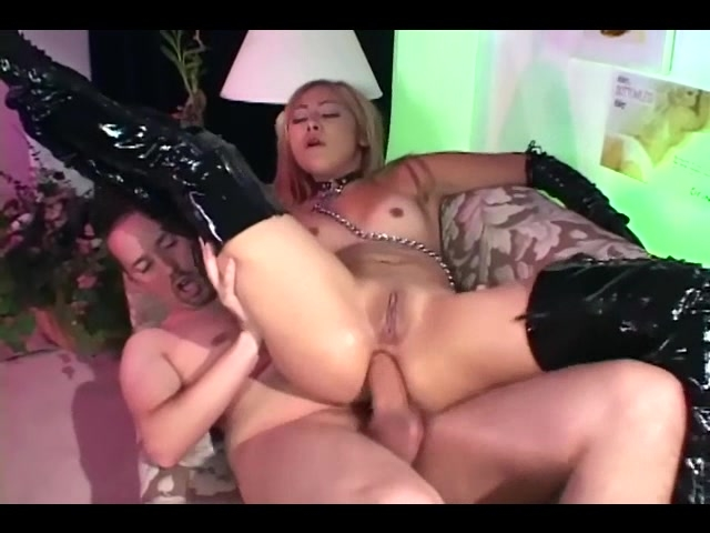 latex boots anal
