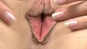 Blonde Fingers her Anus Closeup