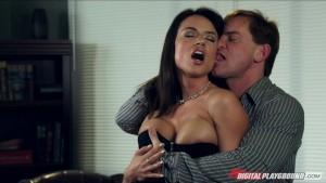 Busty brunette secretary Franceska Jaimes is fucked by her boss