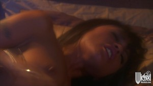 Horny young Asian wife Kaylani Lei rides her husband's hard dick