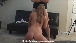 Amateur hot blonde porn audition