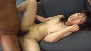Stunning Asian riding cock and then tied up like a dog!