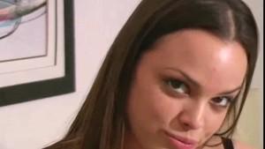Renee Perez in black and pink panties