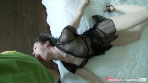 Big-booty lingerie clad babe Stoya is fucked by her man on camera
