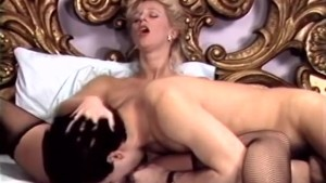 Blonde begging for jizz explosion