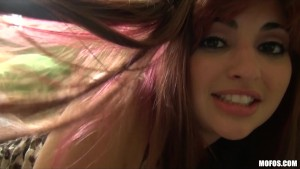Incredibly sexy redhead teen Jade Couture takes her BF's big-dick