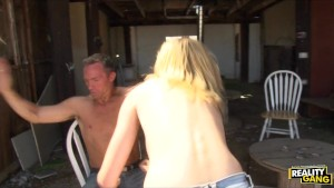 Dominant blond hitchhiker Tracey Sweet pays her driver with sex