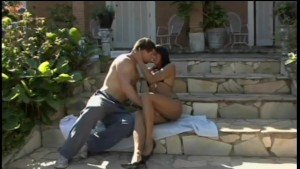 Latin babe getting fucked on the steps - Visual Images