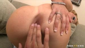 Big-tit blonde bombshell Krissy Lynn loves rough anal sex