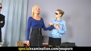 Busty sexy blonde passes a very special examination