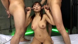 Double Cock Sucking For Maki Hoshino