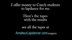 Czech redhead lapdances and does BJ
