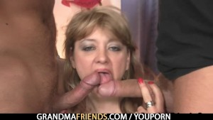 Mom takes two big cocks