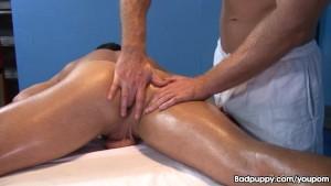 Hot ass fingering massage