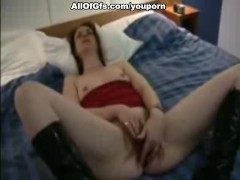 Missionary fuck for sexy girl in boots