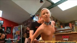 All night bukkake orgy with blonde Lucie