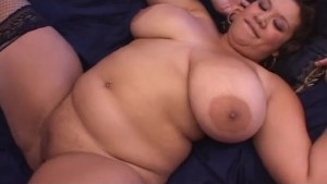 Latina BBW with Big Tits n Stockings Creampied