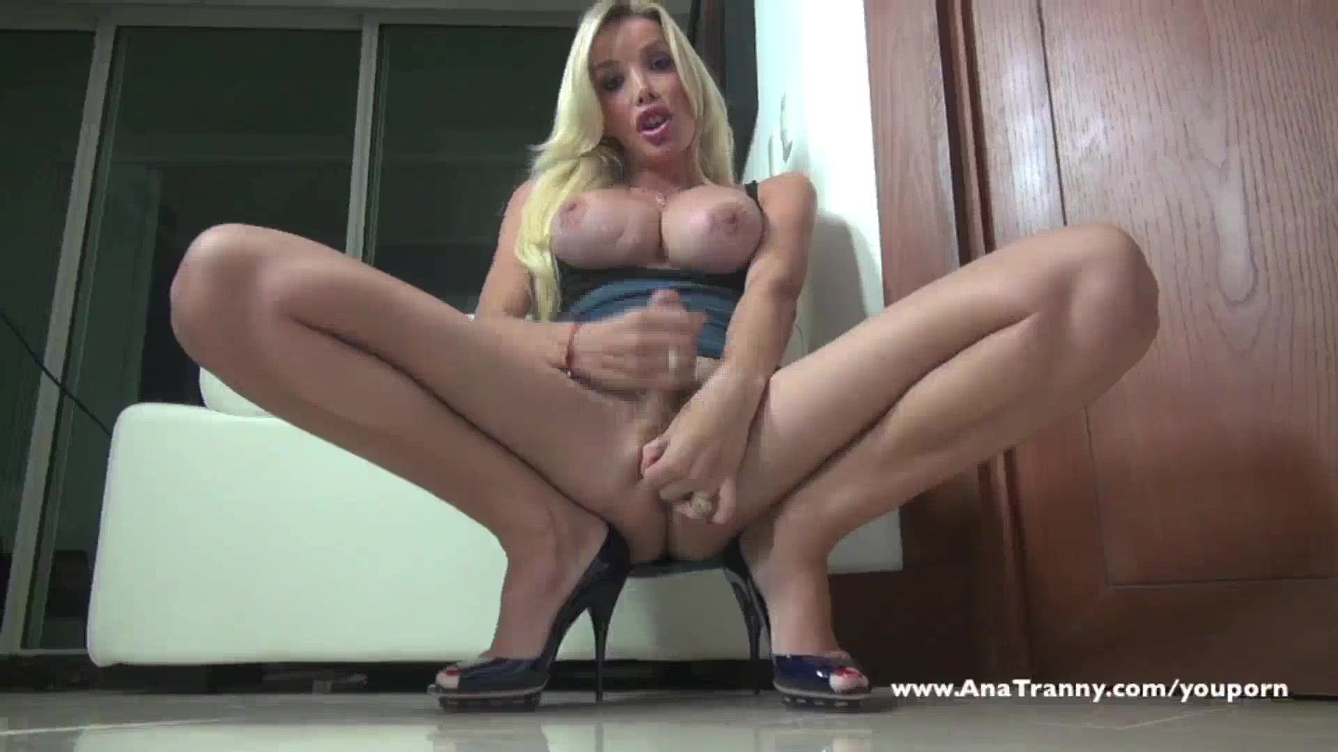 Ana Mancini sexy blue skirt