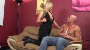 Big Booty Blonde Swallows Every Last Drop