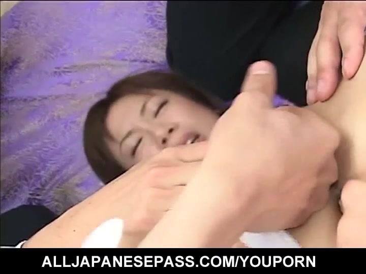 Sweet nurse in a pack of horny doctors