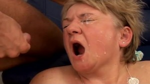 Grandma With Big Tits Gets Fucked and Facial