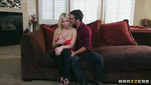 Lonley blonde wife Britney Amber fucks her husband's best friend