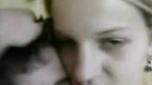 Sexy blonde girlfriend getting fucked by her boyfriend