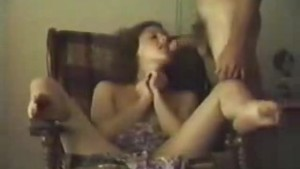 Amateur sex session with hairy pussy and blowjob
