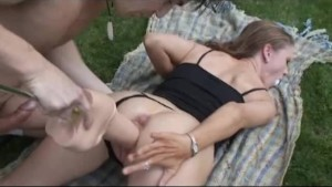massive dildo outdoor fun