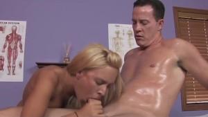 Deepthroat Blowjob From Big Tits Massage Girl