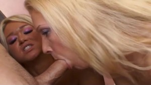 Double Blowjob and Facial From Two Hot Blondes