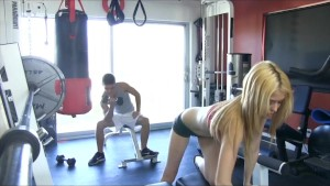 PornPros Blonde Slut Works It All Out in the Gym