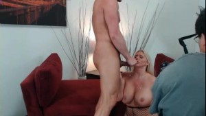Huge Tits Blonde MILF Riding Cock