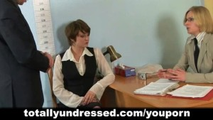 Humiliating nude job interview for elegant young lady
