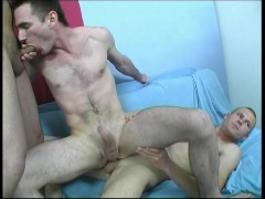 Three guys fuck each other's brains out - Julia Reaves