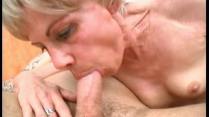 Tattooed Biker Ramming Skinny Granny - Julia Reaves