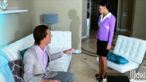 SEXY Asian nanny Cindy Starfall is dominated in bed by her boss