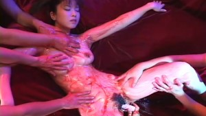 Asian girl gets covered in goo, felt up, and fucked with a toy - Tsubo